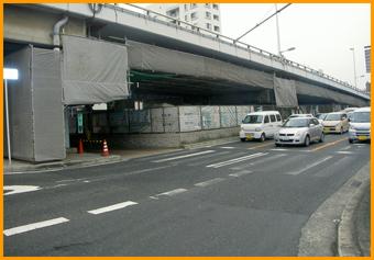 一条通跨道橋補修工事イメージ